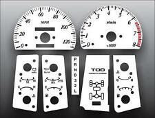 1999-2001 Isuzu VehiCROSS Dash Instrument Cluster White Face Gauges