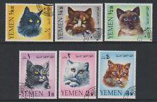 Yémen - 1965, ensemble de chats - F/U - SG r99/104