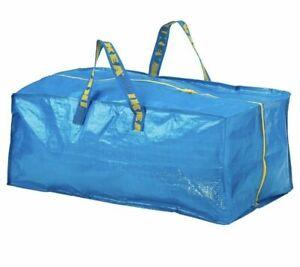IKEA Zippered Storage Bag Shopping Travel Laundry Tote Bags FRAKTA 20 Gallon