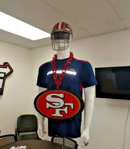 San Francisco 49ers NFL Jumbo Size 3D Foam Magnet Big Rope Fan Chain Necklace
