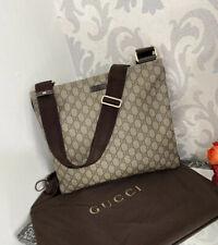 Gucci Beige/Ebony Messenger Bag 100% Authentic NEW