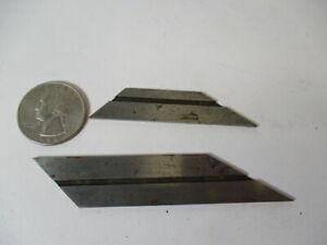 (2) STARRETT or LUFKIN Hexagon / Octagon Double Square Blade, Combination 13, EC