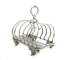 Charles Thomas Fox & George Fox London Sterling Silver Toast Rack, 1853