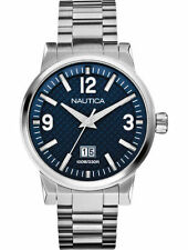 Nautica Watch Stainless Steel Men's NCT 600 Blue Dial Big Date A18596G New