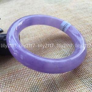Pretty Natural Lavender Jadeite Jade Gemstone Bangle Bracelet 56-62mm Jewelry