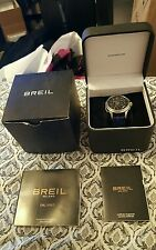 BREIL MILANO BW 0563 CHRONOGRAPH BLUE LEATHER BAND QUARTZ WATCH