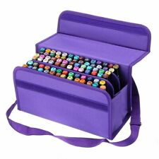 80 Slots Large Capacity Pen Case Art Markers Storage Bag Sketch Tools Organizer