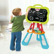 Art Easel For Kids, Triangular Support Double Sided Magnetic Drawing Board