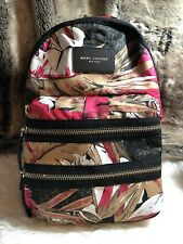 NWT Marc Jacobs New York Large Biker Nylon Backpack Pink Multicolor Floral Print