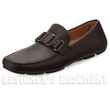 SALVATORE FERRAGAMO Brown 7EE Sardegna VARA driving Moccasin shoes NIB Authentic