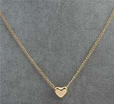 New Pendant Heart Gold Chain Choker Chunky Statement Bib Necklace Jewelry Charm