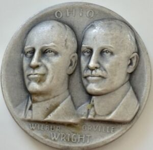 Medallic Art Co. Wilbur & Orville Write The Great Seal of Ohio Silver Medal .999