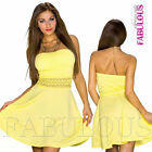 Sexy Strapless Padded Summer Dress A-Line Ladies Summer Party Wear Size 6 8 XS S