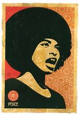 Obey Giant Shepard Fairey Poster Print Angela Davis Black Panther Power