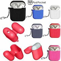 3Gen Soft Silicone Key-chain Case Cover Skin Sleeve For Apple AirPods Earphones