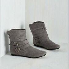 Women Fashion Suede Short Boots Autumn Winter Casual Ankle Shoes Warm Plush Flat