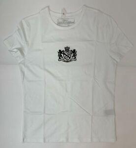 Ralph Lauren Women's White Size Small Cotton L-RL Lion Crest Logo T-Shirt NWOT