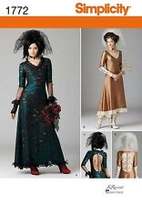 Simplicity Pattern 1772 Misses Steampunk Costumes 4-12