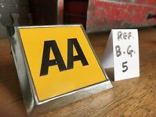 Vintage chrome & yellow AA Car Badge c1970s