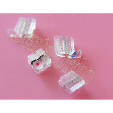 1Kit, Clear Resin Brace Roth 022 Dental Orthodontic WH Metal Slot Band Archwire