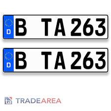 2 Standard Autokennzeichen | Nummernschilder Größe 460x110mm DIN-zertifiziert