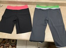 Womens Athletic Exercise Workout Capris Shorts Nike Lot Of 2 Size M 8-10