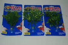 Aquarium Petit plantes en plastique Papaye bambou Salvia 3 variété Paquet de 3