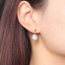 Woman Wedding Earrings Bling Cubic Zirconia Stone Crystal Dangle Ear Stud Bridal