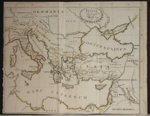 ITALY GREECE BALKAN COUNTRIES TURKEY MIDDLE EAST 1860ca ANONYMOUS ANTIQUE MAP