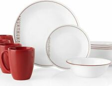 Corelle Livingware Chili Red 16-piece Dinnerware Set Service for 4 NEW