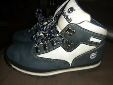 Timberland Juniors Euro Hiker Boots Size 6 Medium Navy Blue +Free Socks Included