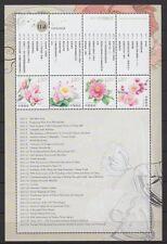 China PRC 2011 Mi.Nr. 4290 C, 4292-94 C Blumen in neuer Zähnung selten