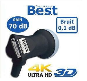 70dB High Gain Single LNB HG101 von B.E.S.T.- Germany 4K Full-Ultra HD