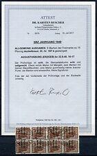 SBZ 8ter Block Nr; 187 b Gestempelt Attest BPP KW 2400,- €
