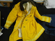 1987 Globe Firefighter Suits Coat Size 40-40 Bunker Gear 100% Coated Aramid