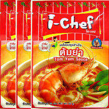 3 x SHRIMP Spicy Soup Sauce Thai Food Yummy Tom Yum Goong Wedding Birthday Party
