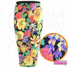 Floral Knee Length Skirts Plus Size for Women