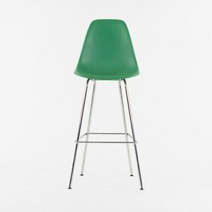 Ray and Charles Eames Herman Miller Molded Shell Bar Stool Chair Kelly Green