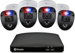 Swann 8 4680 8 Channel 1TB DVR HD 4 x 1080SL Heat Sense Camera CCTV Enforcer Kit