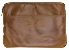 """Solo Pelle Real Leather  Sleeve Case for Apple MacBook Pro 15""""  Cognac Brown"""