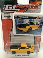 Greenlight GL Muscle 1/64 Scale - 2011 Ford Mustang GT - Yellow/Black