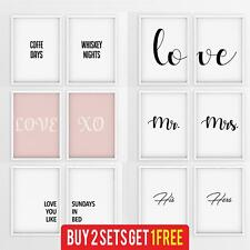 More details for set of 2 stylish prints matching pair of framed wall art poster bedroom kitchen