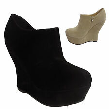 Zip Wedge Ankle Boots for Women