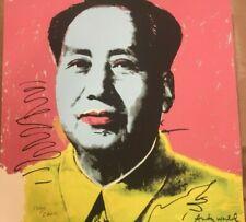 Andy Warhol Mao Zedong 60x60 cm Certificato di autenticita' MZ020