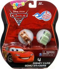 Disney Cars Cars 2 Gomu Mater & Sarge Gomu Erasers 4-Pack