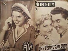 """MON FILM 1949 N° 158 """"UNE FEMME PAR JOUR """" avec JACQUES PILLS et DANIELLE GODET."""