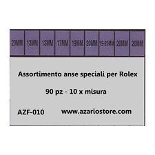 Assortimento Anse acciaio Rlx 9 modelli compatibili Rolex Spring bars 90 pz
