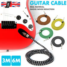 Guitar Cable 6.35mm Jack Electric/Bass/Acoustic to Amp 24AWG OFC Pro-Audio Lead
