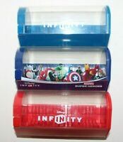 DISNEY INFINITY 22 POWER DISC CAPSULE HOLDER 1.0 2.0 3.0 BLUE RED MARVEL COLORS