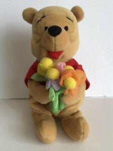 "Disney Store 8"" Winnie the Pooh Flower Gardener Plush"